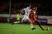 Andre Blackman taking shot at goal during the EFL Sky Bet League 2 match between Crawley Town and Grimsby Town FC at the Checkatrade.com Stadium, Crawley, England on 26 November 2016. Photo by Jarrod Moore.