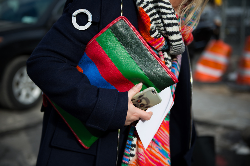 Balenciaga Shopper Clutch, Outside Carolina Herrera FW2017