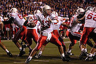 Nebraska quarterback Zac Taylor (13) drops back to pass against Kansas State at Bill Snyder Family Stadium in Manhattan, Kansas, October 14, 2006.  The Huskers beat the Wildcats 21-3.<br />