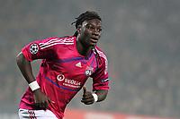 FOOTBALL - UEFA CHAMPIONS LEAGUE 2011/2012 - GROUP STAGE - GROUP D - OLYMPIQUE LYONNAIS v AJAX AMSTERDAM - 22/11/2011 - PHOTO EDDY LEMAISTRE / DPPI - BAFETIMBI GOMIS (OL)