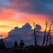The sun sets over the Sierras in Mammoth Lakes, California. Photographed for Aurora Photos.