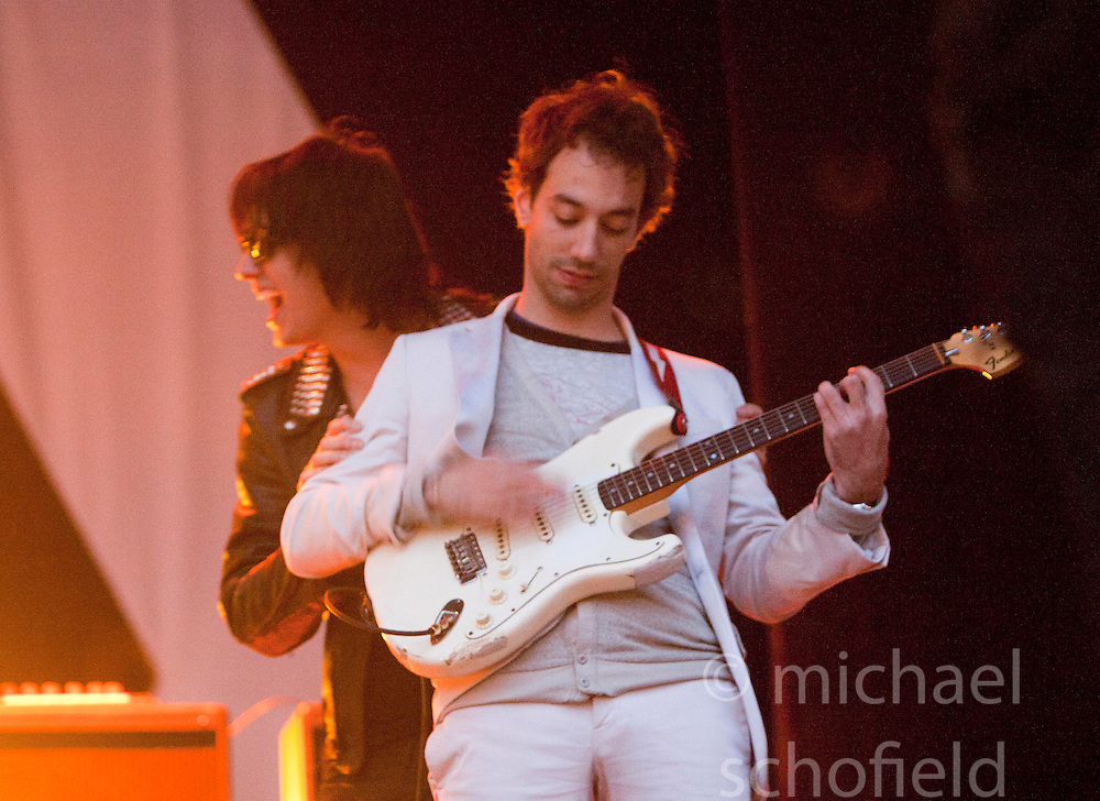 Julian Casablancas of The Strokes headline on the main stage..Rockness, Sunday 13th June..Pic ©2010 Michael Schofield. All Rights Reserved.