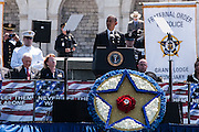 President Barack Obama speaks during the 34th Annual National Peace Officers Memorial Service at the west lawn of the U.S. Capitol on May 15, 2015. Photo by Kris Connor