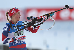 11.03.2016, Holmenkollen, Oslo, NOR, IBU Weltmeisterschaft Biathlon, Oslo, 4x6 Km Staffel, Damen, im Bild Fanny Horn Birkeland (NOR) // during 4x6 km women relay of the IBU World Championships, Oslo 2016 at the Holmenkollen in Oslo, Norway on 2016/03/11. EXPA Pictures © 2016, PhotoCredit: EXPA/ Newspix/ Tomasz Jastrzebowski<br /> <br /> *****ATTENTION - for AUT, SLO, CRO, SRB, BIH, MAZ, TUR, SUI, SWE only*****