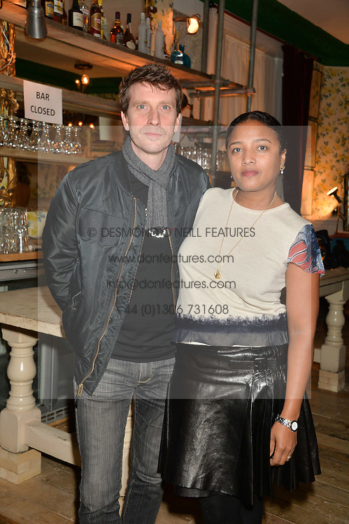 Musician ANDREW HALE and his wife STEPHANIE HALE at the opening party for the KPH Pub at 139 Ladbroke Grove,London on 29th January 2014.