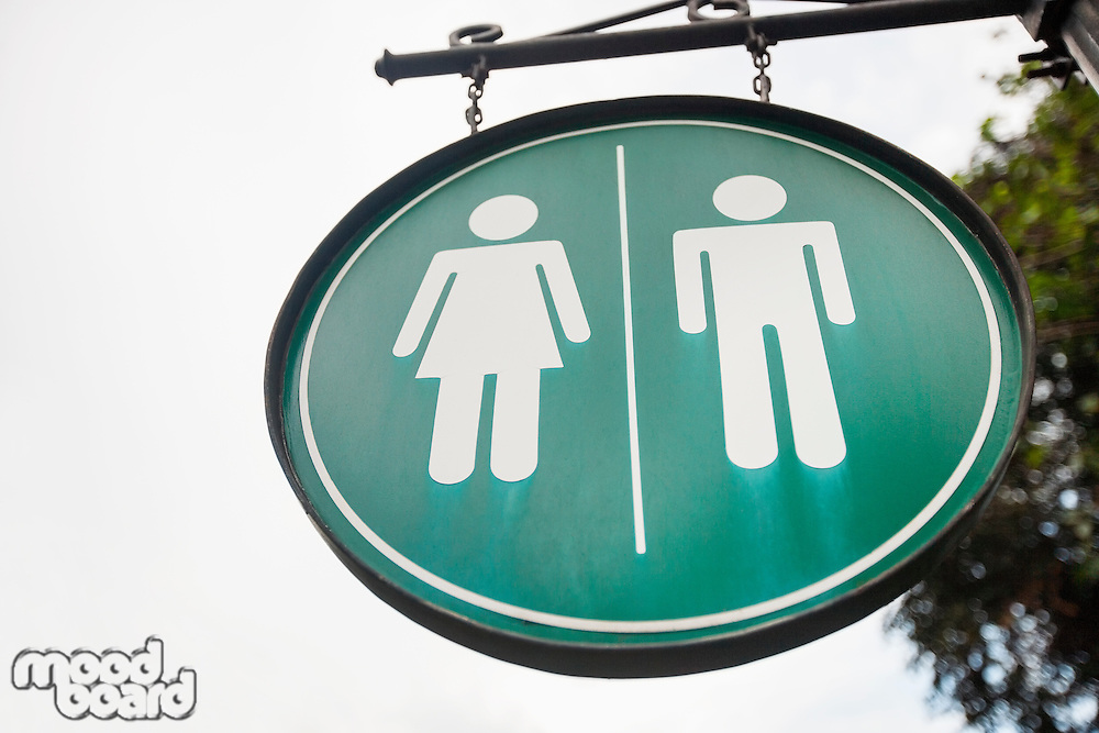 Female and male toilet sign on street; Manila; Philippines