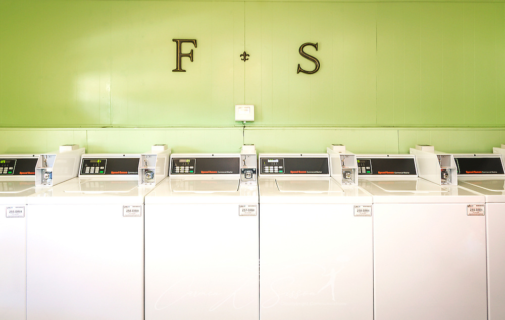 The laundry room at Four Seasons apartments is pictured, Nov. 24, 2015, in Mobile, Alabama. The apartment complex, managed by Sealy Management Co., is located on East Drive. (Photo by Carmen K. Sisson/Cloudybright)