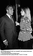 Taki Theodocopulos & Lady Liza Campbell. Lord Lambton book party. 19/9/83. Film 83642f26<br />© Copyright Photograph by Dafydd Jones<br />66 Stockwell Park Rd. London SW9 0DA<br />Tel 0171 733 0108