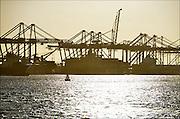 Nederland, the Netherlands, Rotterdam, 3-3-2015Op de deltaterminal van ect worden containerschepen door grote hijskranen geladen en gelost. Door de teruglopende wereldhandel liggen sommige kades er verlaten bij.Foto: Flip Franssen/Hollandse Hoogte