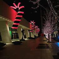 Giant candy canes on West 57th Street in New York City