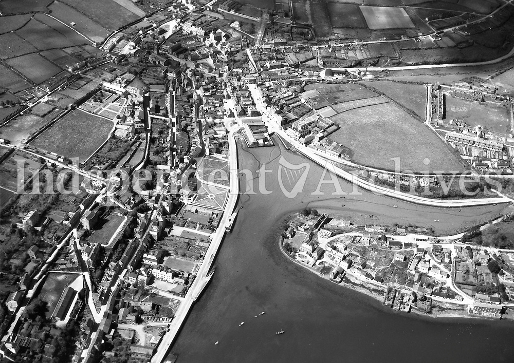A251 Kinsale.   10/04/53. (Part of the Independent Newspapers Ireland/NLI collection.)<br /> <br /> <br /> These aerial views of Ireland from the Morgan Collection were taken during the mid-1950's, comprising medium and low altitude black-and-white birds-eye views of places and events, many of which were commissioned by clients. From 1951 to 1958 a different aerial picture was published each Friday in the Irish Independent in a series called, 'Views from the Air'.