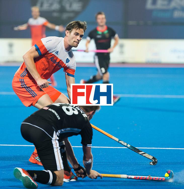 BHUBANESWAR -Mirco Pruyser (Ned)  tijdens de Hockey World League Finals , de kwartfinale wedstrijd Duitsland-Nederland (3-3).Duitsland wint na shoot-outs.    COPYRIGHT KOEN SUYK
