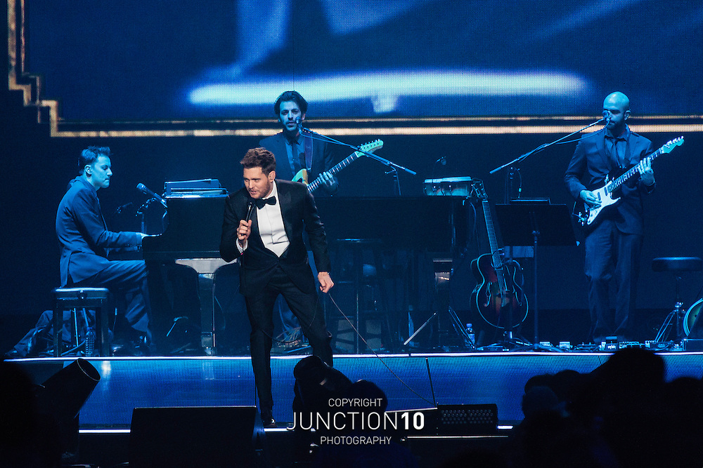 Michael Bubl&eacute; kicks off his UK tour at the Barclaycard Arena, Birmingham, United Kingdom<br /> Picture Date: 2 December, 2014