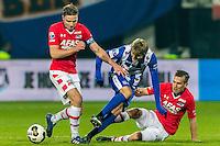 ALKMAAR - 25-01-2017, AZ - sc Heerenveen, AFAS Stadion, 1-0, AZ speler Ben Rienstra, SC Heerenveen speler Martin Odegaard, AZ speler Stijn Wuytens