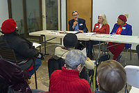 The Hyde Park Chapter of the Older Women&rsquo;s League hosted a panel discussion Saturday afternoon, February 3rd, 2018 titled, &ldquo;Voter Rights and Getting Out the Vote&rdquo; in the basement of the Treasure Island grocery store located at 1526 E. 50th St. The panel included Stephen Stern, attorney and State Board President of the Independent Voters of Illinois-Independent Precinct Organization, Julie P. Shelton, retired attorney and volunteer with the League of Women Voters and civil rights activist, Sophia Watson. The Older Women&rsquo;s League of Illinois is a grassroots membership organization that focuses on issues unique to women of any age.<br /> <br /> Please 'Like' &quot;Spencer Bibbs Photography&quot; on Facebook.<br /> <br /> Please leave a review for Spencer Bibbs Photography on Yelp.<br /> <br /> All rights to this photo are owned by Spencer Bibbs of Spencer Bibbs Photography and may only be used in any way shape or form, whole or in part with written permission by the owner of the photo, Spencer Bibbs.<br /> <br /> For all of your photography needs, please contact Spencer Bibbs at 773-895-4744. I can also be reached in the following ways:<br /> <br /> Website &ndash; www.spbdigitalconcepts.photoshelter.com<br /> <br /> Text - Text &ldquo;Spencer Bibbs&rdquo; to 72727<br /> <br /> Email &ndash; spencerbibbsphotography@yahoo.com