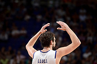 Real Madrid's Sergio Llull during semi finals of playoff Liga Endesa match between Real Madrid and Unicaja Malaga at Wizink Center in Madrid, May 31, 2017. Spain.<br /> (ALTERPHOTOS/BorjaB.Hojas)