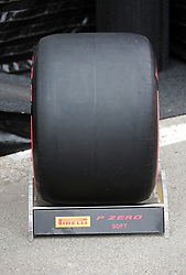 February 20, 2019 - Barcelona, Spain - soft tire during the Formula 1 test in Barcelona, on 20th February 2019, in Barcelona, Spain. (Credit Image: © Joan Valls/NurPhoto via ZUMA Press)