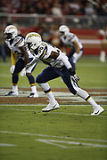 Los Angeles Chargers defensive end Whitney Richardson (90) in action during the 2018 NFL preseason week 4 football game against the San Francisco 49ers on Thursday, Aug. 30, 2018 in Santa Clara, Calif. The Chargers won the game 23-21. (©Paul Anthony Spinelli)