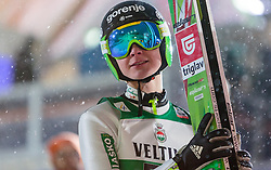 21.02.2016, Salpausselkae Schanze, Lahti, FIN, FIS Weltcup Ski Sprung, Lahti, Herren, im Bild Domen Prevc (SLO) // Domen Prevc of Slovenia reacts during Mens FIS Skijumping World Cup of the Lahti Ski Games at the Salpausselkae Hill in Lahti, Finland on 2016/02/21. EXPA Pictures © 2016, PhotoCredit: EXPA/ JFK