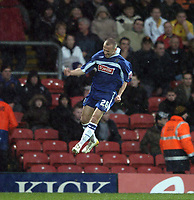 Photo: Jonathan Butler.<br />Watford v Stockport County. The FA Cup. 06/01/2007.<br />David Poole of Stockport celebrates after scoring.