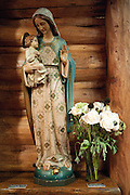 PRICE CHAMBERS / NEWS&amp;GUIDE<br /> A small statue of Mary and baby Jesus adorns the sanctuary.