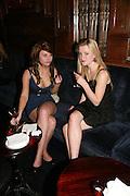 Nell Hudson and Sarah Lovatt, Tatler's Little Black Book party. Tramp. Jermyn St.  London. 7 November 2007. -DO NOT ARCHIVE-© Copyright Photograph by Dafydd Jones. 248 Clapham Rd. London SW9 0PZ. Tel 0207 820 0771. www.dafjones.com.