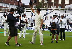 September 11, 2018 - London, Greater London, United Kingdom - Alastair Cook of England leaves the field after the final time at the end of the Specsavers 5th Test.during International Specsavers Test Series 5th Test match Day Five  between England and India at Kia Oval  Ground, London, England on 11 Sept 2018. (Credit Image: © Action Foto Sport/NurPhoto/ZUMA Press)