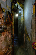 Dimly lit alleyway in Khan El Khalili market