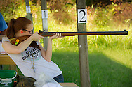 4-H youth compete in the state muzzleloading rifle contest.<br /> part of the 4-H Shotgun Sports Program. Top shooters from across the state compete on several target types to determine the top state marksman.
