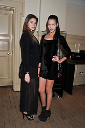 Left to right, BEATRICE SANTANA and ANA MARQUES at the Vogue Festival 2012 in association with Vertu held at the Royal Geographical Society, London on 20th April 2012.