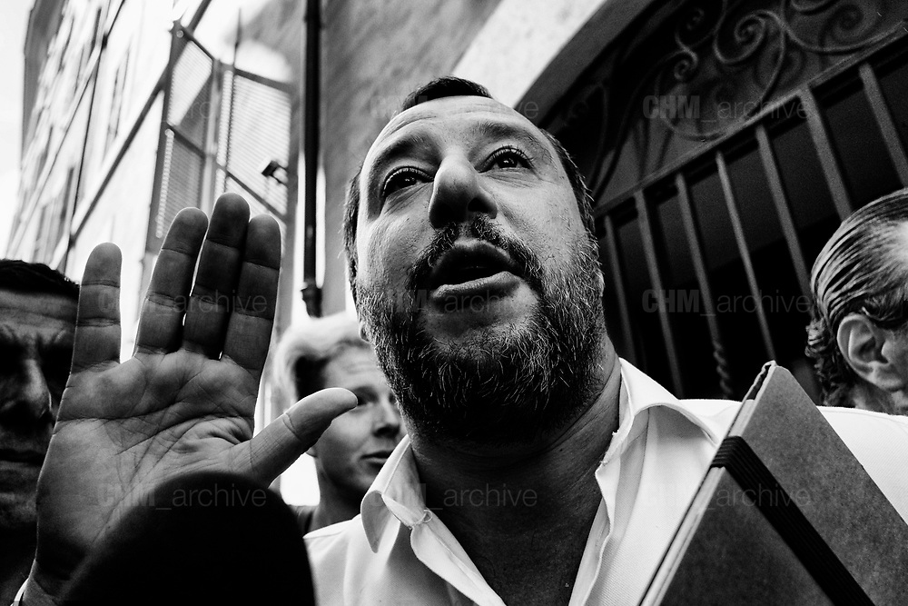 Leader of Lega political party, Matteo Salvini, leaves the parliament after a new day of meetings for the formation of the new government on April 26, 2018 in Rome, Italy. Christian Mantuano / OneShot
