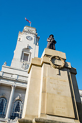 Remembrance Sunday Barnsley Memorial outside Barnsley Town Hall<br /> <br />   12 November2017 <br />   Copyright Paul David Drabble<br />   www.pauldaviddrabble.co.uk