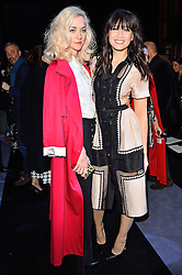 © Licensed to London News Pictures. 21/02/2016.  PORTIA FREEMAN and DAISY LOWE attend the Temperley show at the London Fashion Week Autumn/Winter 2016 show. Models, buyers, celebrities and the stylish descend upon London Fashion Week for the Autumn/Winters 2016 clothes collection shows. London, UK. Photo credit: Ray Tang/LNP