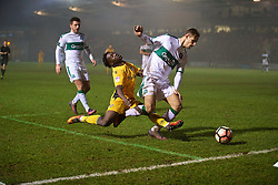 NEWPORT, WALES - Wednesday, December 21, 2016: Newport County's Jordan Green in action against Plymouth Argyle during the FA Cup 2nd Round Replay match at Rodney Parade. (Pic by David Rawcliffe/Propaganda)