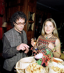 MR PETER ADLER and FRANCESCA, MARCHIONESS OF BRISTOL,  at a party in London on 8th May 1997.LYF 21