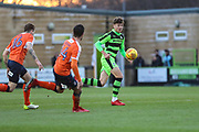 Forest Green Rovers Jordan Stevens(35) runs forward during the EFL Sky Bet League 2 match between Forest Green Rovers and Luton Town at the New Lawn, Forest Green, United Kingdom on 16 December 2017. Photo by Shane Healey.