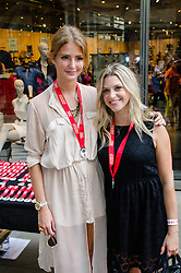 © Licensed to London News Pictures. 19/08/2012. London,UK.  Millie Mackintosh, of reality TV show Made in Chelsea, and TV presenter/Princes Trust Ambassador Anna Williamson, participating in exclusive fundraising walk The Sunday Strut, in aid of The Princes Trust. Photo credit : Richard Isaac/LNP