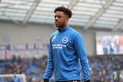 Brighton & Hove Albion striker (on loan from Arsenal) Chuba Akpom (28) warming up during the EFL Sky Bet Championship match between Brighton and Hove Albion and Burton Albion at the American Express Community Stadium, Brighton and Hove, England on 11 February 2017.