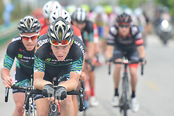 September 20, 2017 - Changde, China - Riders during the second stage of the 2017 Tour of China 2, the 97.6km Changde Lixiang Circuit Race. .On Wednesday, 20 September 2017, in Lixian County, Changde City, Hunan Province, China. (Credit Image: © Artur Widak/NurPhoto via ZUMA Press)