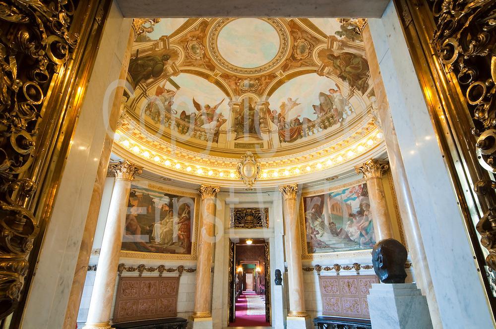 Rathaus innen, Turmsaal, Hamburg, Deutschland Verwendung nur mit Genehmigung des Hamburger Rathauses.|.interior of guild hall, tower hall, Hamburg, Germany