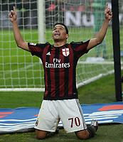 esultanza gol Carlos Bacca Milan Goal celebration <br /> Milano 31-01-2016 Stadio Giuseppe Meazza - Football Calcio Serie A Milan - Inter. Foto Matteo Gribaudi / Image Sport / Insidefoto