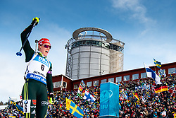 March 10, 2019 - –Stersund, Sweden - 190310 Denise Herrmann of Germany celebrates as she win the Women's 10 km Pursuit during the IBU World Championships Biathlon on March 10, 2019 in Östersund..Photo: Petter Arvidson / BILDBYRÃ…N / kod PA / 92254 (Credit Image: © Petter Arvidson/Bildbyran via ZUMA Press)
