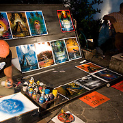 A street artist in Playa del Carmen, Mexico. July 2009.  (Photo/William Byrne Drumm)