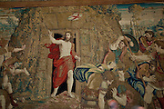 A tapestry inside the Vatican Museums depicts the resurrected Christ exiting his tomb. (Sam Lucero photo)