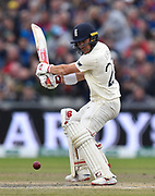 Rory Burns of England batting during the International Test Match 2019, fourth test, day three match between England and Australia at Old Trafford, Manchester, England on 6 September 2019.