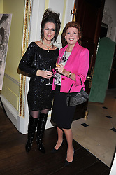 Left to right, LORRAINE CHASE and CILLA BLACK at Ambassador Earle Mack's 60's reunion party held at The Ritz Hotel, London on 18th June 2012.