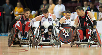 14 August 2015: TO2015 Parapanam Games, Wheelchair Rugby Gold medal match Canada v USA, Mississauga Sports Centre. Josh Wheeler