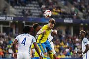 KIELCE, POLEN 2017-06-16<br /> Jacob Une-Larsson under UEFA U21 matchen mellan Sverige och England p&aring; Arena Kielce den 16 juni, 2017.<br /> Foto: Nils Petter Nilsson/Ombrello<br /> Fri anv&auml;ndning f&ouml;r kunder som k&ouml;pt U21-paketet.<br /> Annars Betalbild.<br /> ***BETALBILD***