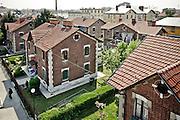 Villaggio Leumann, è un quartiere operaio realizzato tra la fine dell'800 e l'inizio del '900 su progetto dell'ingegnere Pietro Fenoglio e prende il nome dal suo fondatore, l'imprenditore di origine svizzera Napoleone Leumann...Il complesso è costituito da due comprensori di casette ai lati dello stabilimento tessile su una superficie di circa 60.000 metri quadrati. Il Villaggio Leumann è uno dei siti che fanno parte dell'Ecomuseo sulla Cultura Materiale della Provincia di Torino, il quartiere viene così conservato integralmente
