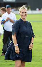 Zara Tindall during the International Day at the Royal County of Berkshire Polo Club - 28 July 2018